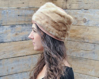 autumn haze mink, real mink hat, real fur hat, midcentury fur hat, autumn haze hat, s autumn haze hat,