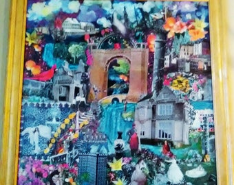 Original mixed media collage