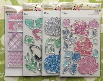 Recollections Clear Stamps, 4 sets--NEW!!