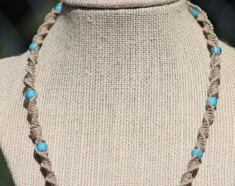 Little Blue Peep Beaded Necklace