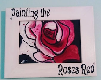 "Acrylic Painting ""Painting the Roses Red"""