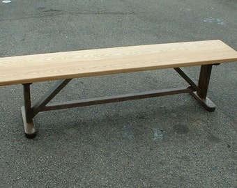 Bench Solid Oak Six Foot Trestle Base