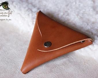 Triangle - Barenia Cognac calfskin wallet