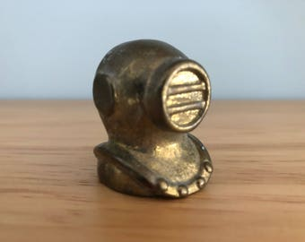 Vintage Brass Diving Mask | Home Decor