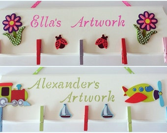 Kid's Artwork Board, Kid's Artwork Display, Art Display Board, Kids Artwork, Kids Achievements board, Personalized Art, Toy, Kids gift