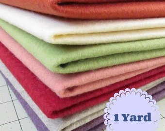 1 Yard Merino Wool blend Felt 20% Wool - Cut to order - You Choose Color