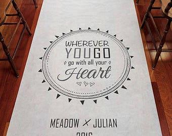 Free Spirit Personalized Aisle Runner Wedding Ceremony Decoration