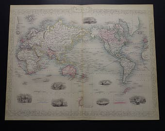 Antique world map etsy gumiabroncs