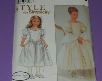3-6 Uncut Girls fancy dress pattern Simplicity 8931