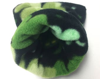Small Fleece Shamrock Reversible Snuggle Sack for Hedgehogs, Ferrets, Rabbits, Guinea pigs, Hamster and Small Reptiles.