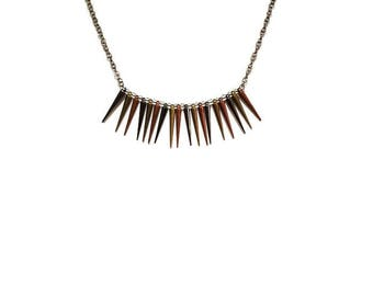 Spiked Metal Statement Necklace