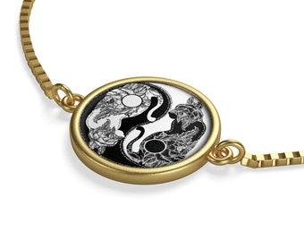 Ying Yang Cats Box Chain Bracelet