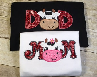 MOM or DAD Cow T-Shirt