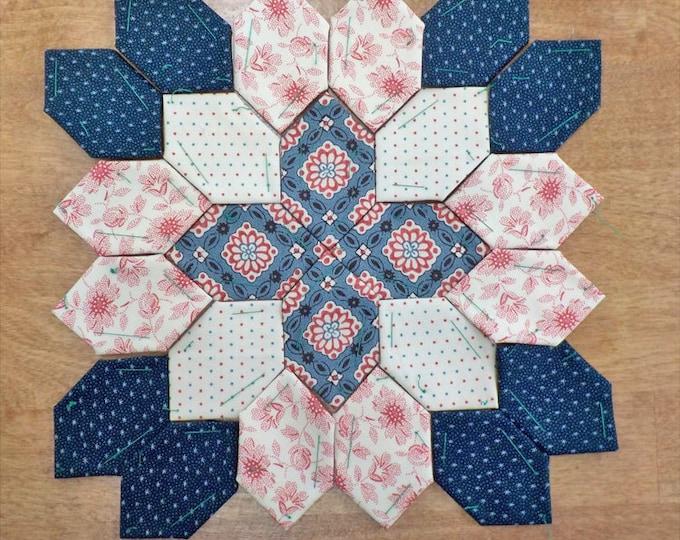 Lucy Boston Patchwork of the Crosses civil war block kit #54