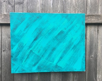 Teal painting