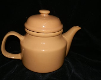 Vintage, Ceramic, Light Brown, 2 cup, Covered, Teapot