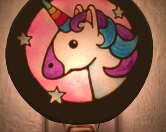 Unicorn with Pink Background
