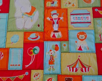 """Playmat/ Circus Quilt / Tummy time /Crib / toddler Primary Colors 39"""" × 42"""""""