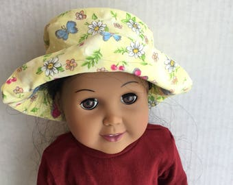 """Hat fits 18"""" dolls such as American girl"""