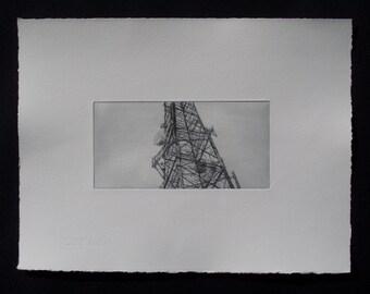 Communication mast print