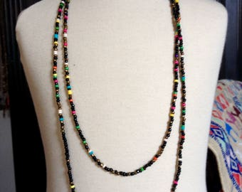 Long multicolor beads