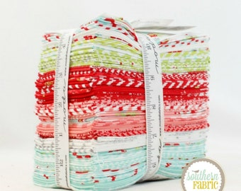 """Vintage Holiday - Fat Eighths Bundle - 40 - 9""""x21"""" Cuts - Bonnie and Camille - Moda Quilt Fabric (55160F8)"""