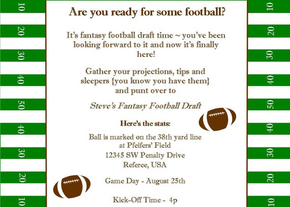 Fantasy football superbowl birthday party printable invitation filmwisefo Gallery
