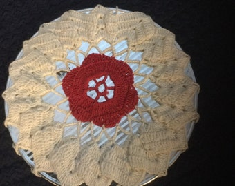 Vintage Crochet Covered Hot Pad