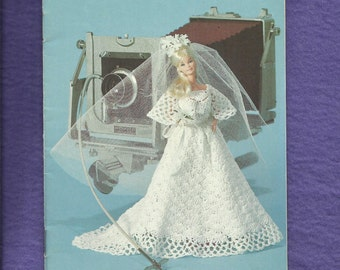 1970's Coats & Clark Book 270 Crocheted Barbie Doll Dress Baby Doll Clothes