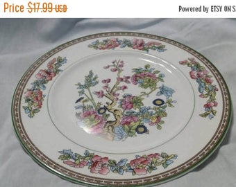 On Sale Rare Antique China Knowles Taylor Knowles Indian Tree with Pink Flowers 9 3/8 inch Luncheon Plate Replacement China