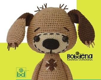 Amigurumi pattern dog Amigurumi crochet pattern animal Tutorial amigurumi dog pdf Pattern crochet dog pdf Softie crochet toy dog pattern pdf