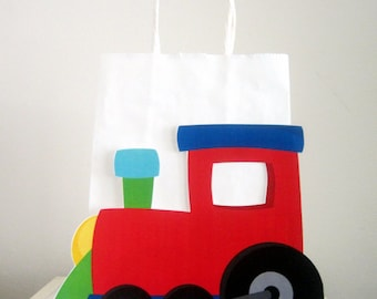 Train Goody Bags, Train Birthday Party Bags, Train Favor Bags, Train party Bags, Choo Choo Train Favors