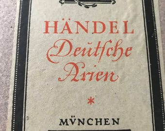 Music Book German Songs German Language 1920s Hardcover Shades of Brown Book Educational Singing Music Book Decorative Hardcover