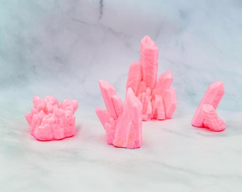 Pink Rose Quartz Isomalt Sugar Crystals