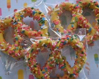 Rainbow Sprinkles Chocolate Covered Pretzels 12ct