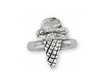 Ice Cream Cone Ring Jewelry Sterling Silver Handmade Ice Cream Cone Ring ICC-R