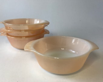 Fire King Peach Lustre 12 Ounce Casserole Dish Set of 4