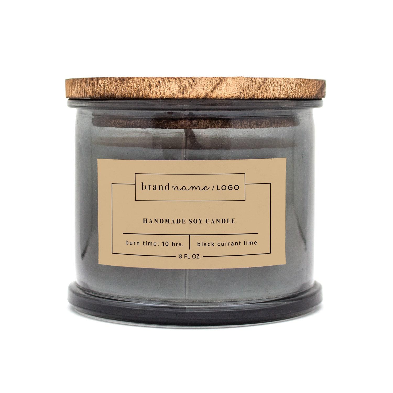 Etiqueta personalizada vela etiquetas para cosméticos