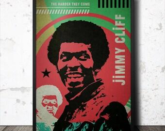 Jimmy Cliff Reggae Music Pop Art Poster