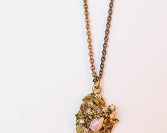 OPAL NECKLACE GOLD - opal jewelry - fairy garden necklace - garden necklace - garden jewelry - fairy tale necklace - fairy tale jewelry