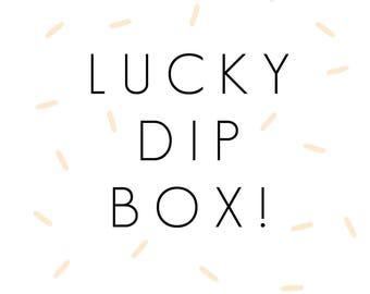 Lucky Dip Box Illustration Goodies Greeting Cards Risograph Keyring Fox Christmas Stocking Filler Gift
