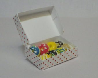 Box of Donuts For Fairy Garden or Dollhouse Miniature Food Enjoyment