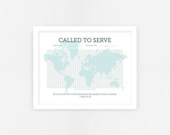 LDS Missionary Countdown Calendar - Elder - Digital File