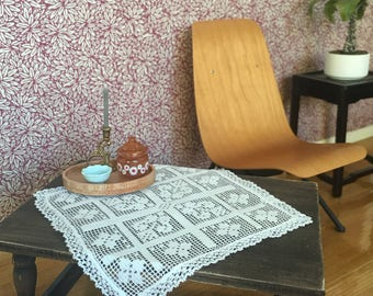 Vintage Lace Tablecloth for Barbie and Fashion Dolls