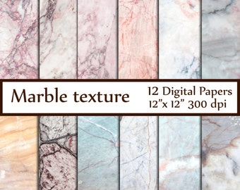 """Marble Digital Paper: """"MARBLE TEXTURE PAPER"""" Marble Stone Texture Granite Texture decoupage papers photography backdrop marbled paper"""