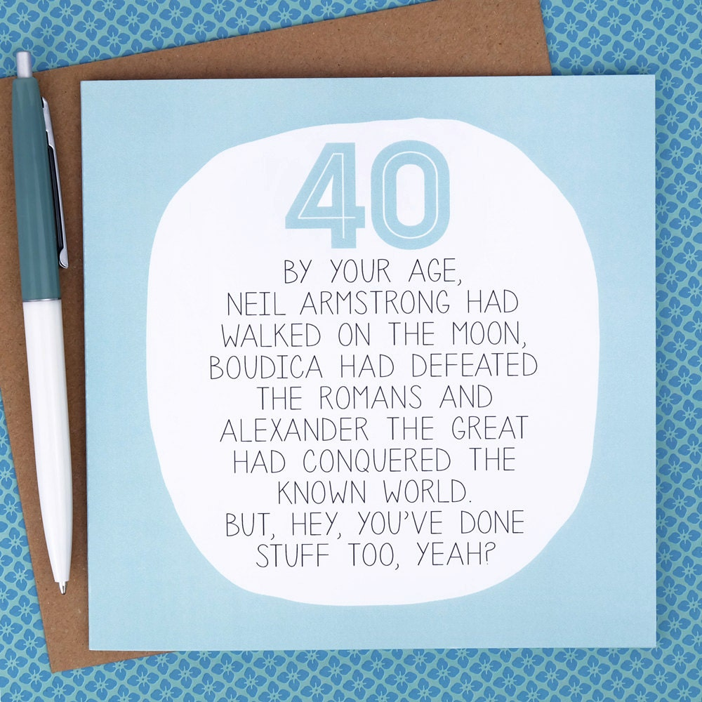 40th birthday card funny birthday card funny 40th birthday zoom bookmarktalkfo Image collections