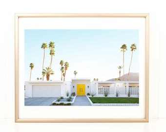 Desert Photography, Mid Century Home, Palm Springs Home, Coachella, Large Wall Art, Photo Print, Palm Springs, Mid Century Photo, California