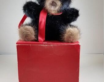 """1982 Rare Bear Mink 6"""" Teddy Bear"""