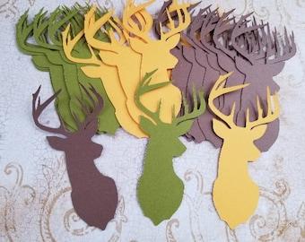 Die Cut Deer Heads/Buck. Made from KRAFT Brown.    #K-43