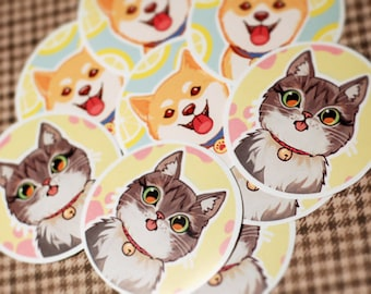 Cat Doge Stickers